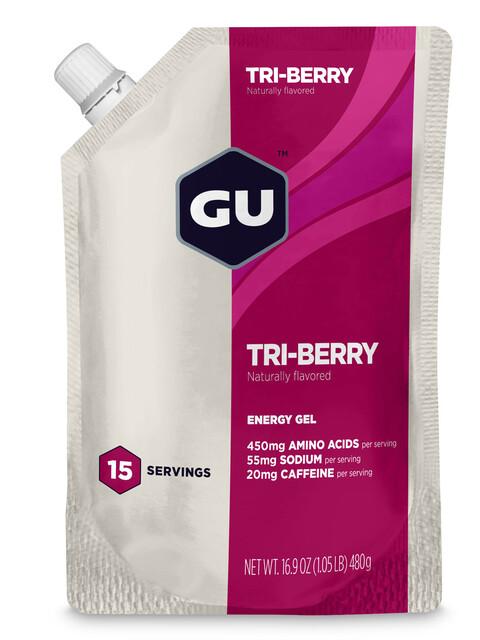 GU Energy Gel Vorratsbeutel Tri Berry 480g